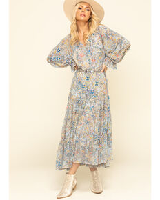 Free People Women's Red Feeling Groovy Maxi Dress , Multi, hi-res