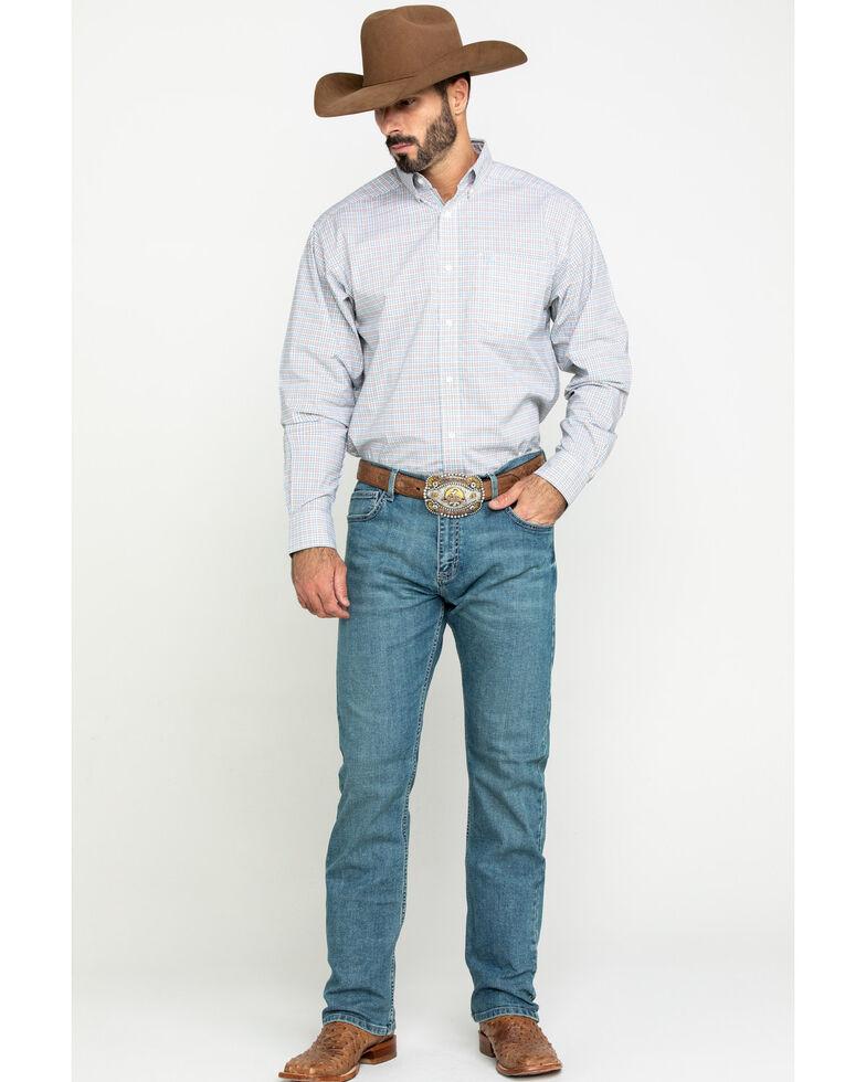 Ariat Men's Lynwood Plaid Long Sleeve Western Shirt - Tall , White, hi-res