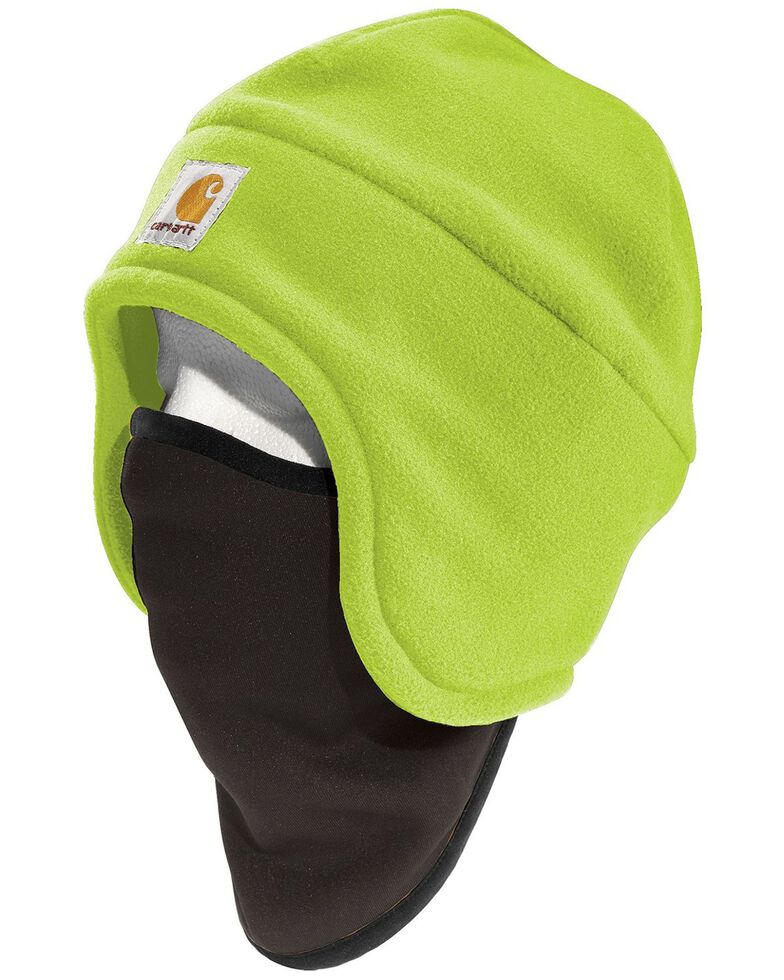 Carhartt High-Visibility Color Enhanced 2-in-1 Headwear, Lime, hi-res