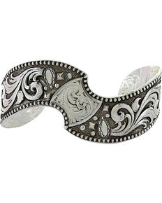 Montana Silversmiths Antique Twisted Cushion Cuff Bracelet  , Silver, hi-res