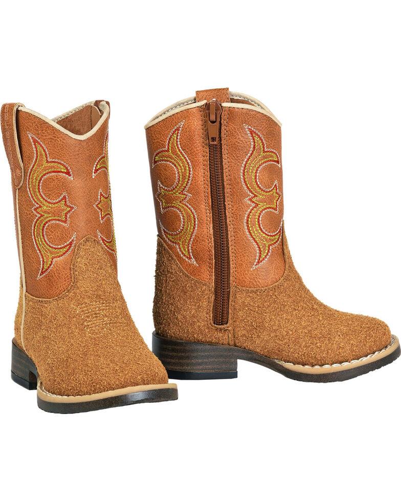 Double Barrel Toddler Boys' Rhett Rough Out Cowboy Boots - Square Toe, Natural, hi-res
