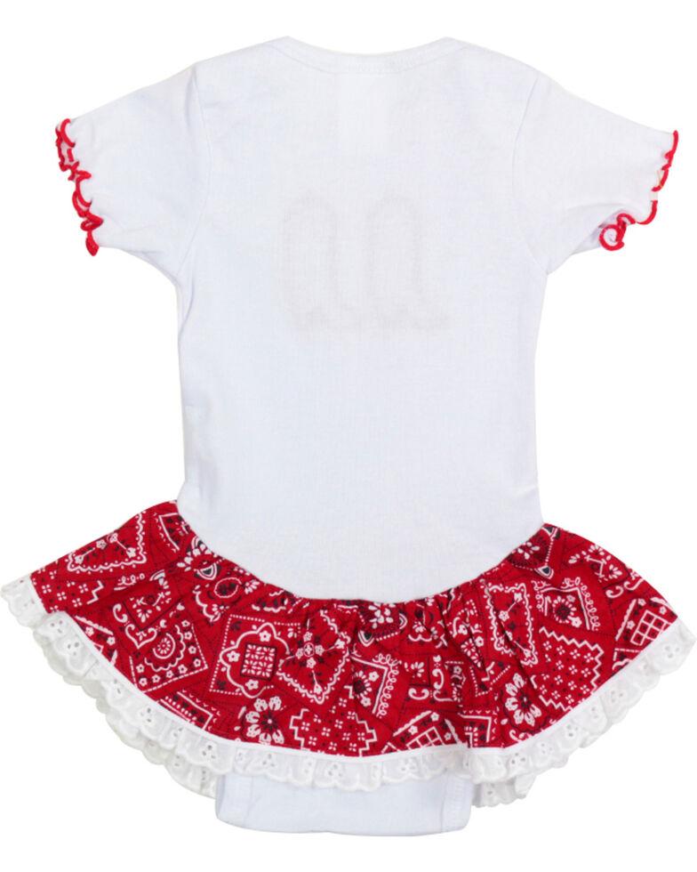 Kiddie Korral Infant Girls' Bandana Ruffle Onesie , Red, hi-res
