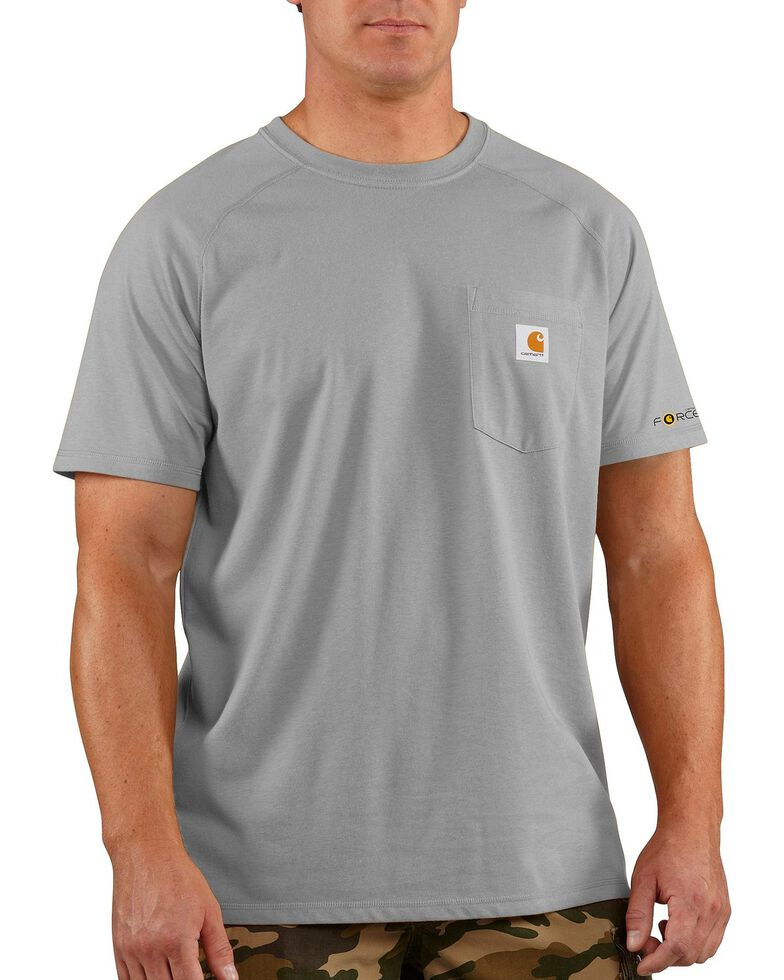 Carhartt Men's Short Sleeve Force T-Shirt, Hthr Grey, hi-res