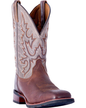 Laredo Men's Heath Dark Brown Cowboy Boots - Square Toe , Dark Brown, hi-res