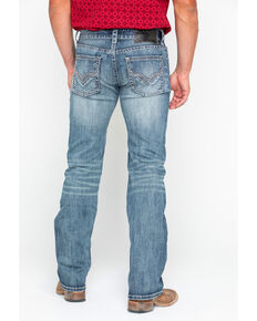 Rock & Roll Cowboy Men's Reflex Pistol Straight Jeans , Blue, hi-res