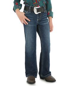 Wrangler Girls' Davis Ultimate Riding Q-Baby Jeans, Blue, hi-res