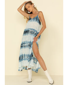 Rag Poet Women's Tie Dye Stripe Pura Dress, Blue, hi-res