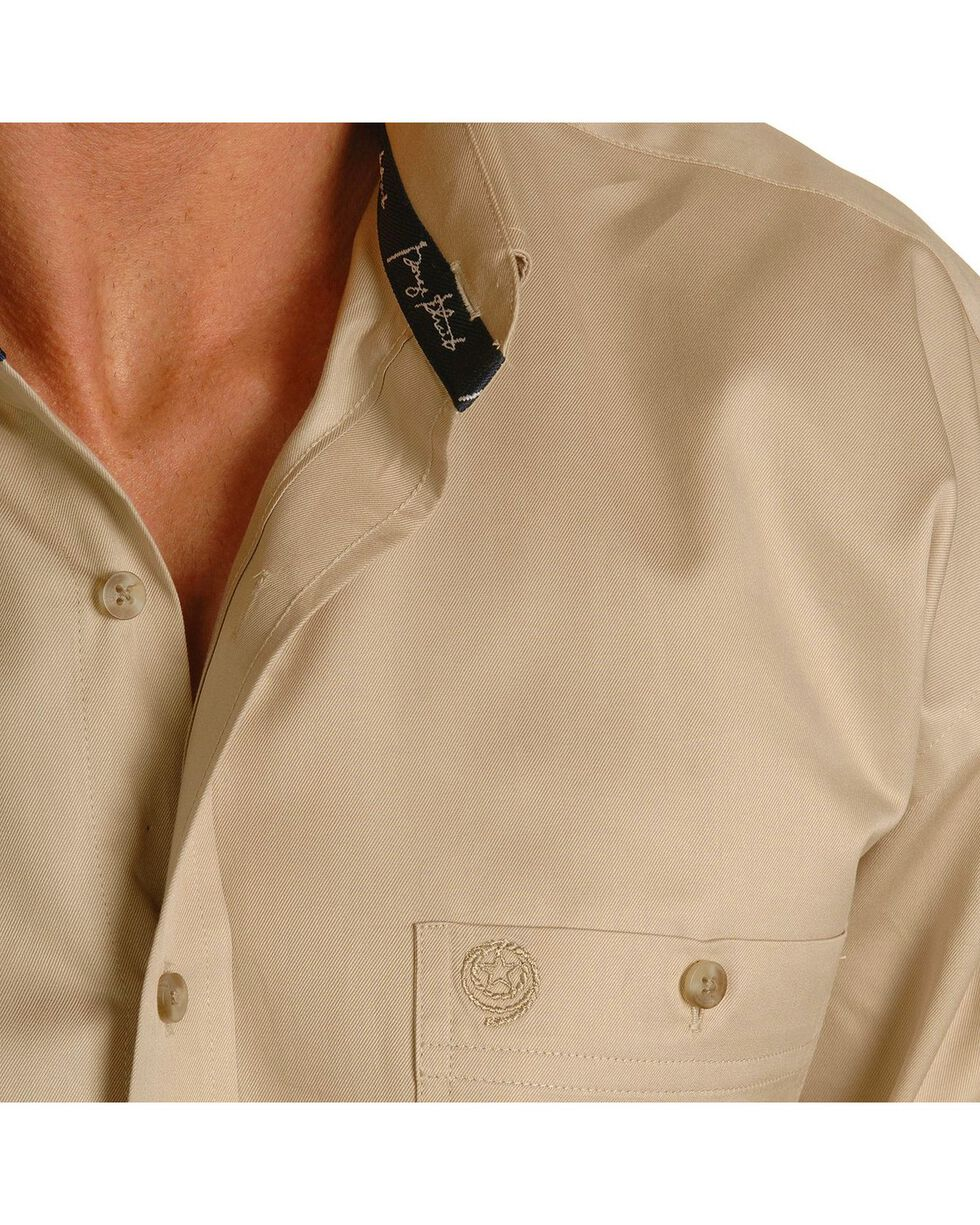 George Strait by Wrangler Men's Tan Long Sleeve Western Shirt, Tan, hi-res