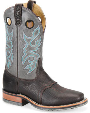 Double-H Men's Wide Square Toe ICE Western Boots, Brown, hi-res