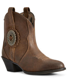 Ariat Women's Cantina Sepai Western Booties - Round Toe, Brown, hi-res