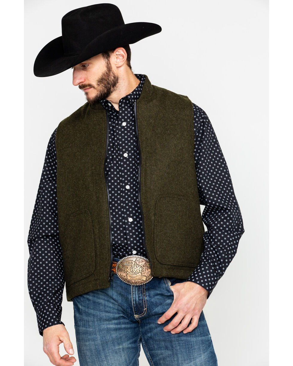 Filson Men's Wool Vest & Liner, Tan, hi-res
