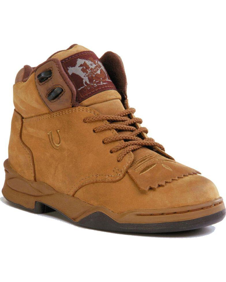 Roper Footwear Women's Horseshoe Kiltie Boots, Tan, hi-res