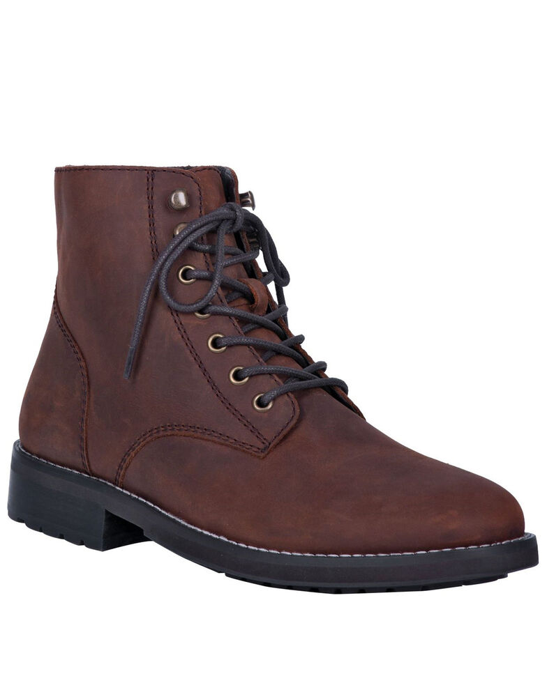 Dingo Men's Huck Lace Boots - Round Toe, Brown, hi-res