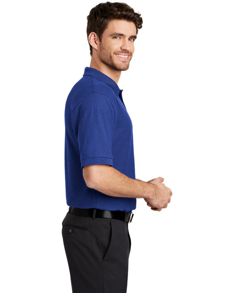 Port Authority Men's Silk Touch Short Sleeve Polo Shirt - Tall , Royal Blue, hi-res