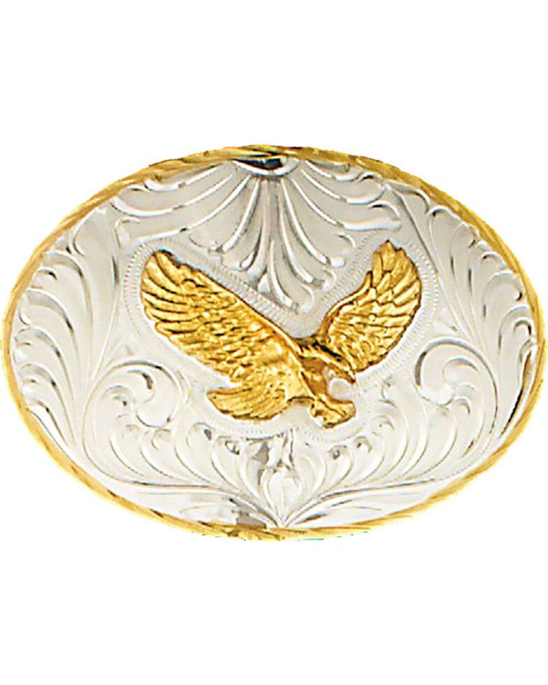 Western Express Men's Silver German Eagle Belt Buckle , Silver, hi-res