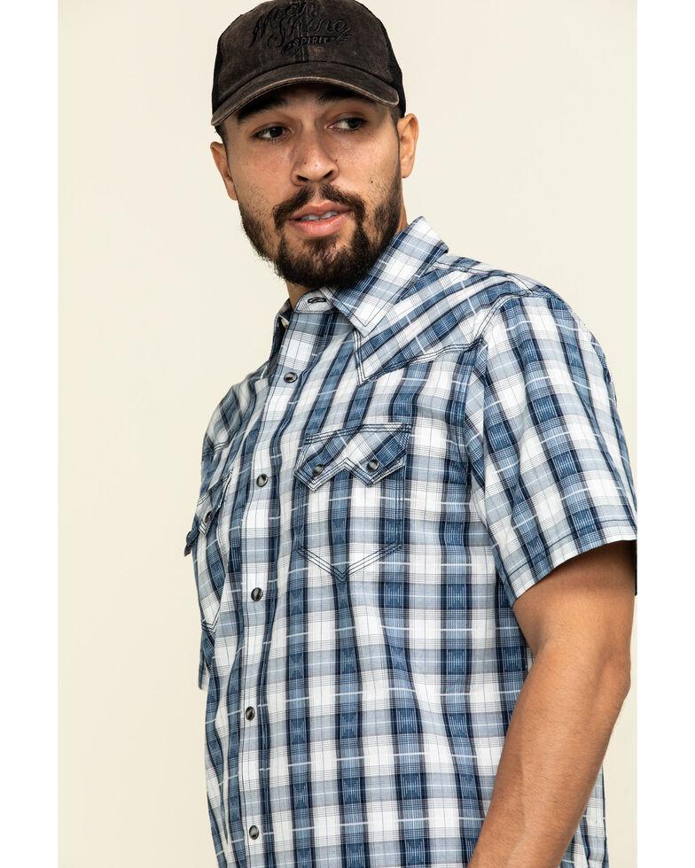 Moonshine Spirit Men's El Jefe Plaid Short Sleeve Western Shirt , White, hi-res