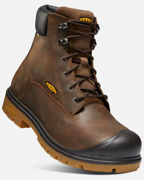 Keen Men's Baltimore Waterproof Work Boots - Round Toe, Brown, hi-res