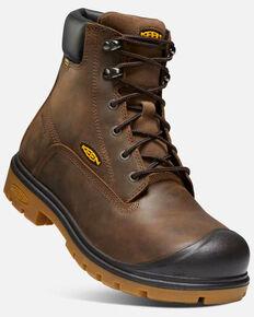Keen Men's Baltimore Waterproof Work Boots - Round Toe, Brown, hi-res