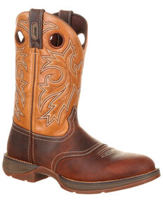Durango Men's Rebel Saddle Western Boots - Round Toe, Brown, hi-res