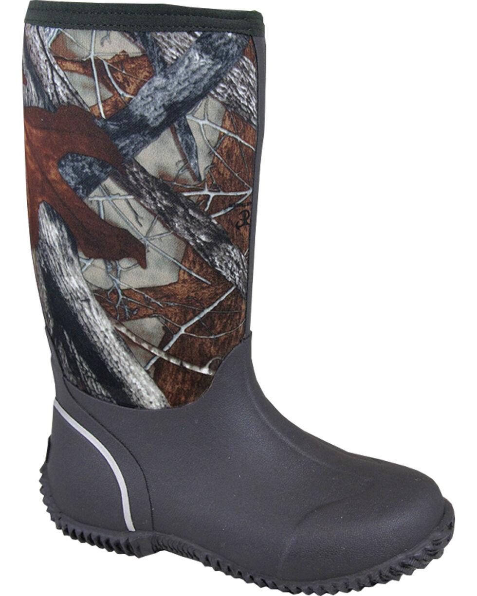 Smoky Mountain Youth Boys' Amphibian Camo Waterproof Boots, Brown, hi-res