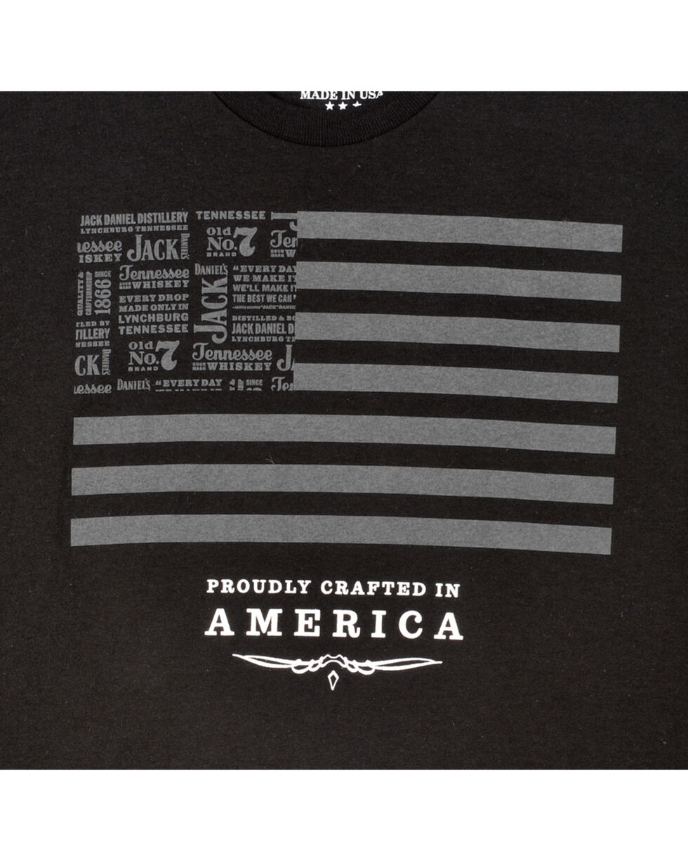 Jack Daniel's Men's Flag Tee, Black, hi-res