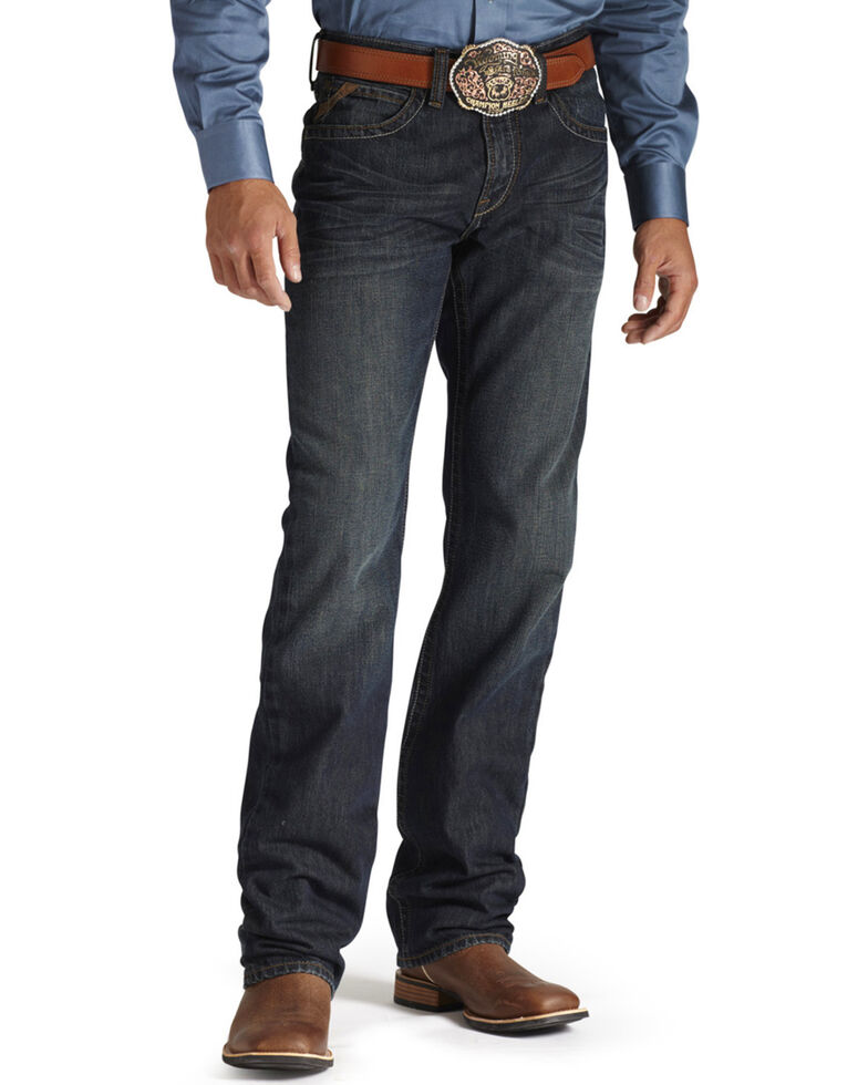 Ariat Men's M3 Loose Low Rise Straight Leg Jeans, Dark Denim, hi-res