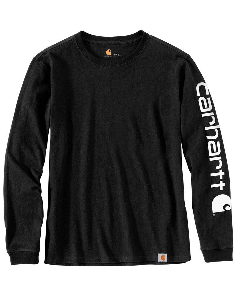 Carhartt Women's Workwear Sleeve Logo Long-Sleeve T-Shirt, Black, hi-res