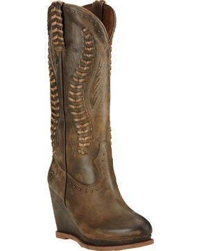 Ariat Women's Nashville Western Boots, Chocolate, hi-res