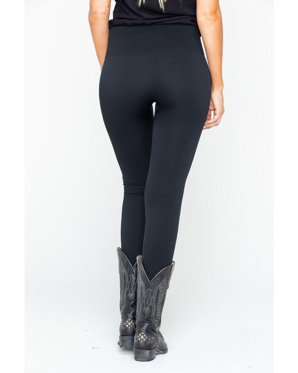 Shyanne Women's Fleece Basic Leggings, Black, hi-res
