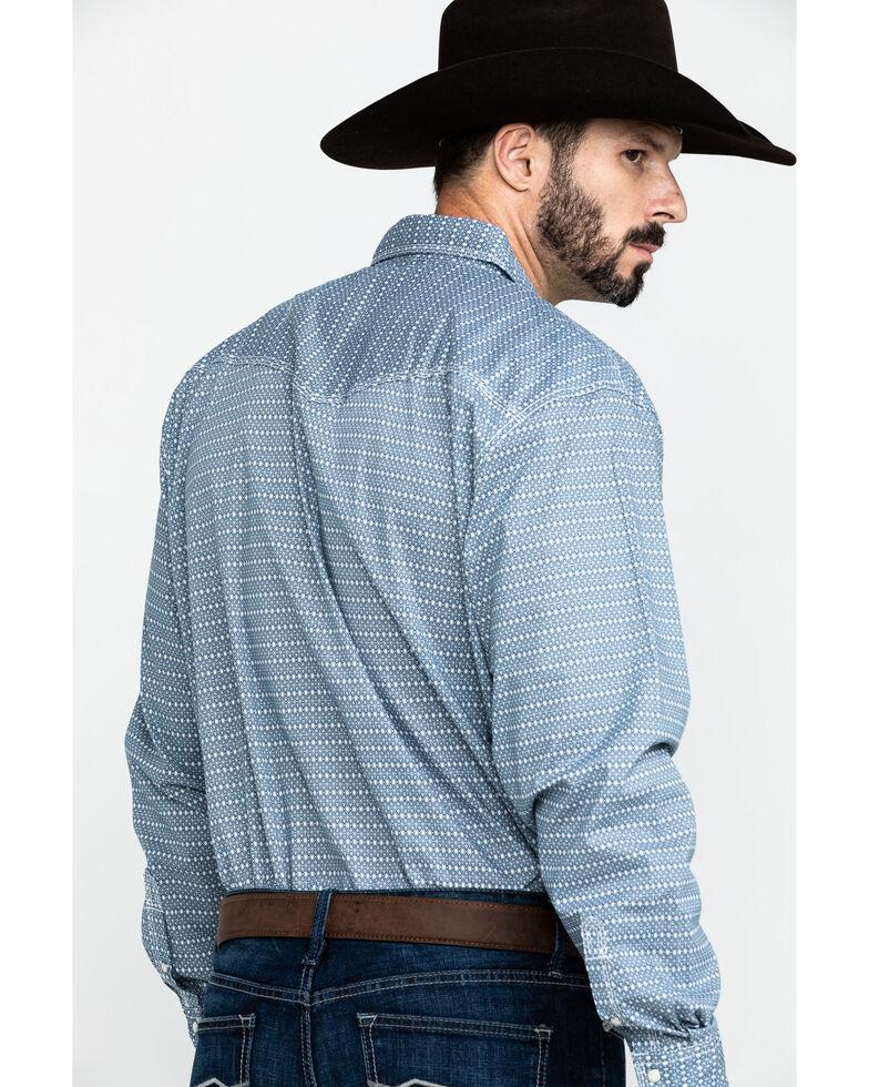 Wrangler 20X Men's Advanced Comfort White Geo Long Sleeve Western Shirt - Tall , White, hi-res