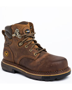 Hawx Men's Crew Chief Work Boots - Composite Toe, Dark Brown, hi-res