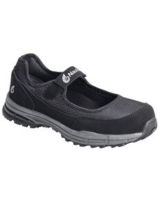 Nautilus Women's Steel Toe ESD Velcro Safety Shoes, Black, hi-res
