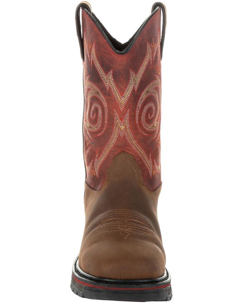 Georgia Boot Men's Carbo-Tec LT Waterproof Western Work Boots - Soft Toe, Brown, hi-res