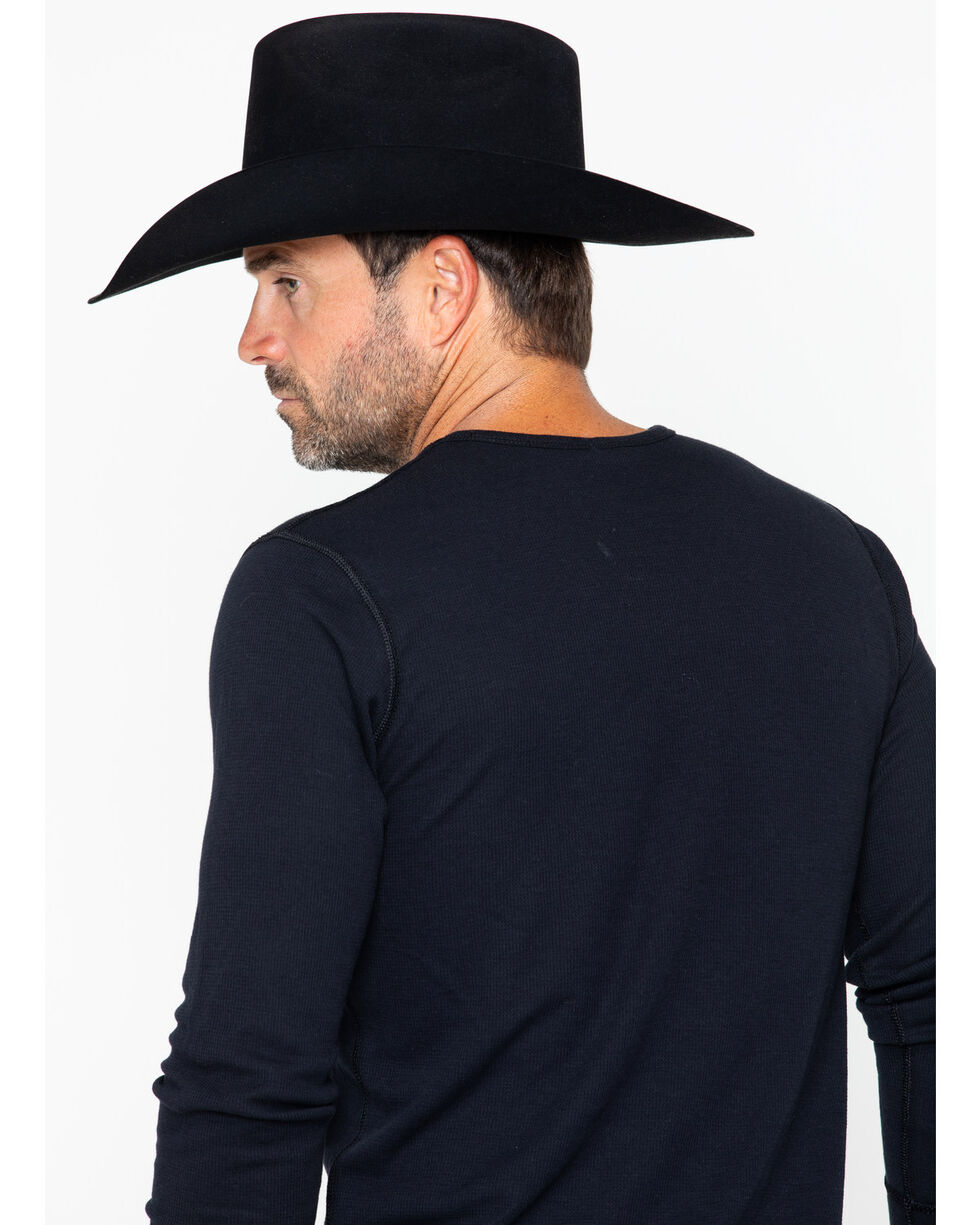 Cody James Men's Badge Graphic Long Sleeve Thermal Shirt - 2XL, Black, hi-res