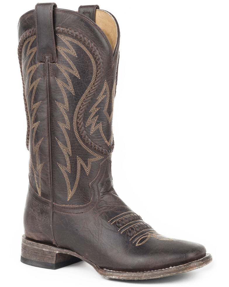 Stetson Women's Brown Leia Western Boots - Square Toe , Brown, hi-res