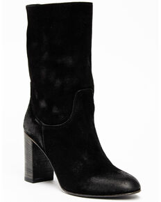Free People Women's Dakota Heel Western Boots, Black, hi-res