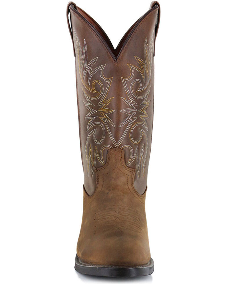 Cody James® Men's Embroidered Western Boots, Distressed Brown, hi-res
