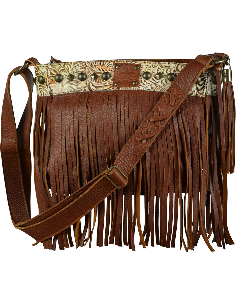 STS Ranchwear Women's Lila Crossbody Bag, Saddle Brown, hi-res