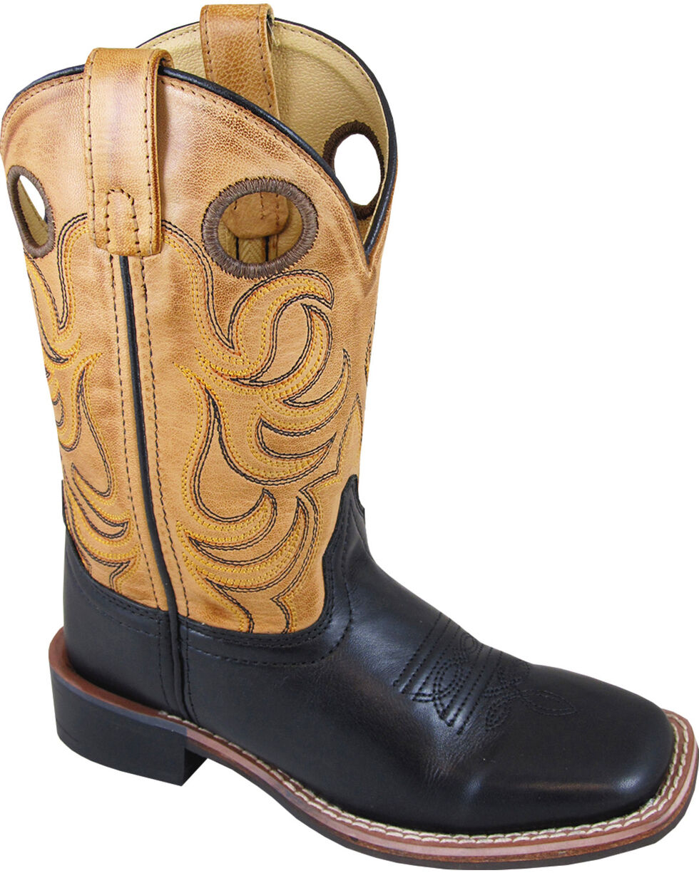 Smoky Mountain Boys' Tan Jesse Western Boots - Square Toe , Black, hi-res
