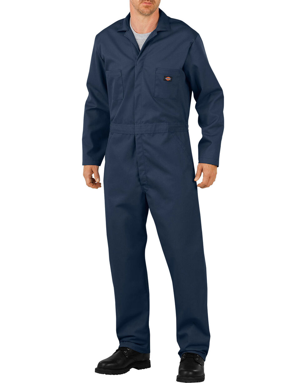 Dickies Long Sleeve Coveralls, Navy, hi-res