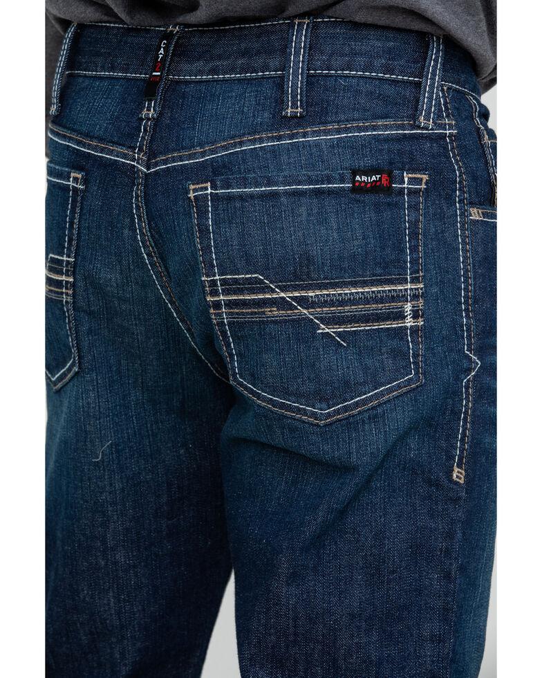 Ariat Men's FR M4 Durastretch Lineup Straight Work Jeans , Grey, hi-res