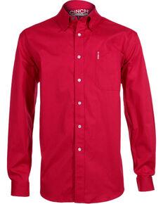 Cinch Men's Modern Fit Long Sleeve Western Shirt, Pink, hi-res