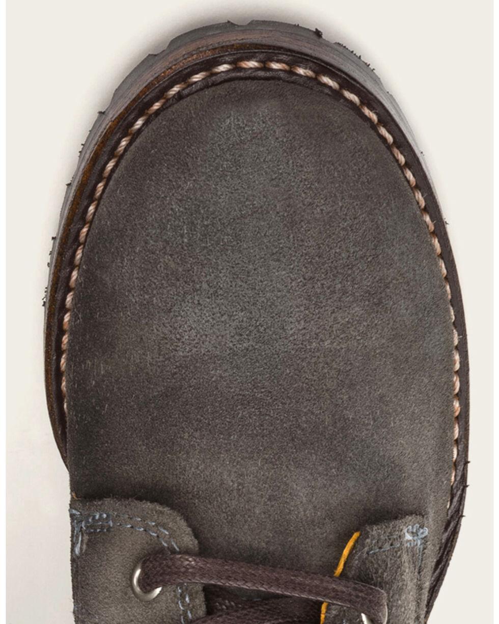 Frye Women's Charcoal Sabrina 6G Lace Up Boots - Round Toe , Dark Grey, hi-res