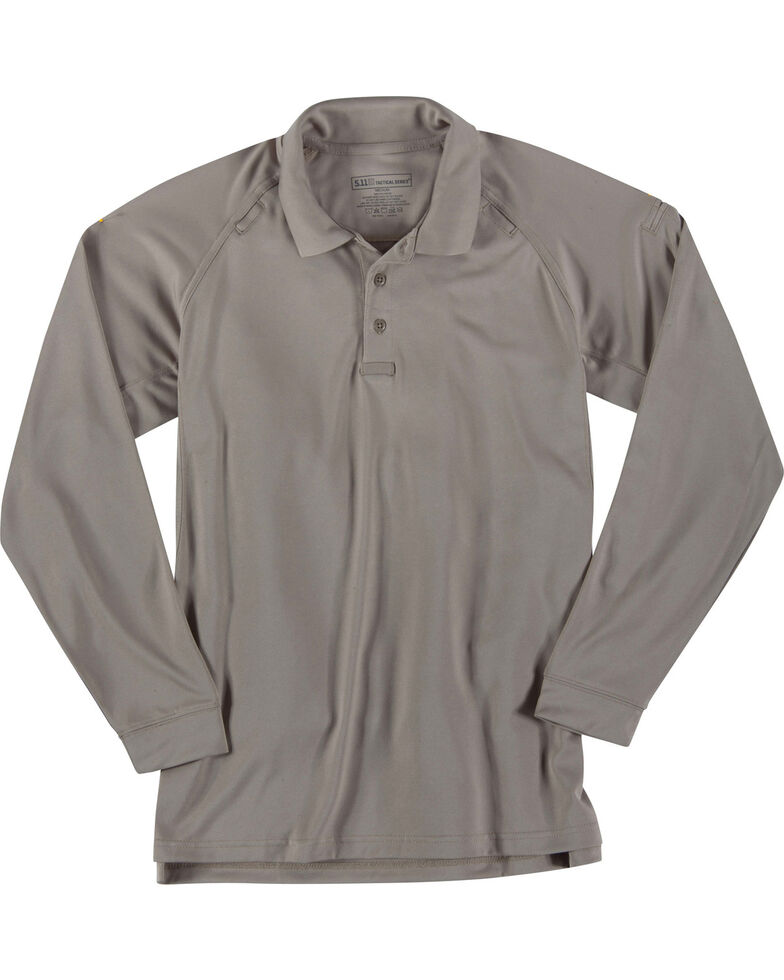 5.11 Tactical Performance Long Sleeve Polo - 3XL, Tan, hi-res