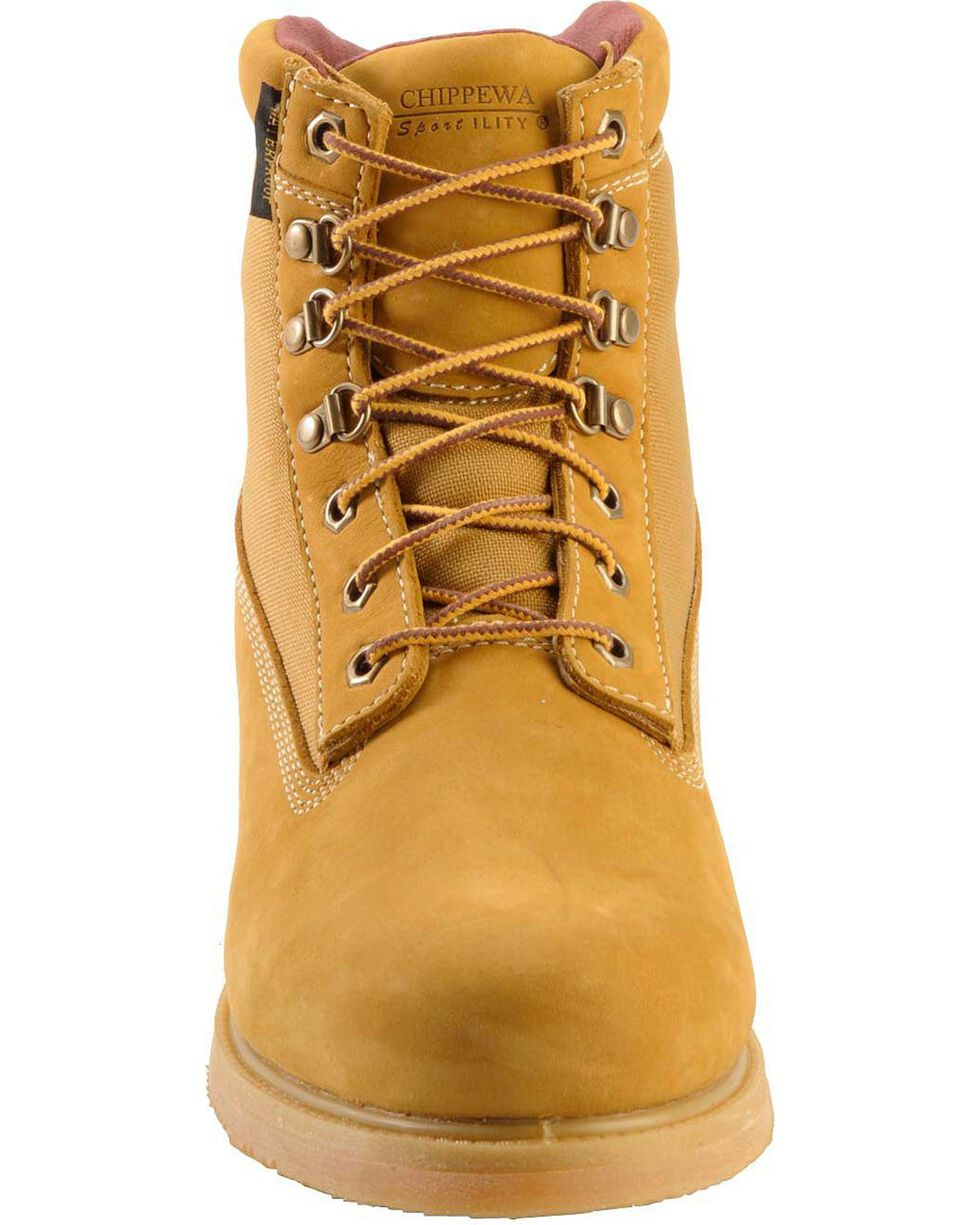 Chippewa Men's Waterproof Insulated Nubuc Work Boots, Golden Tan, hi-res