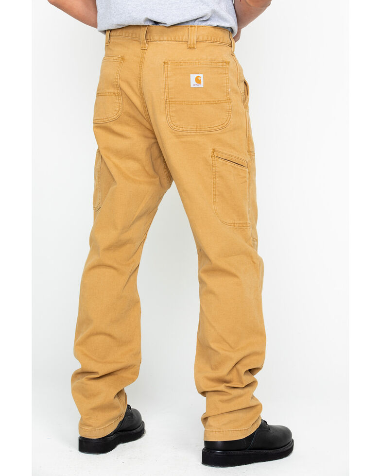 cc8793f57e3 Zoomed Image Carhartt Men's Rugged Flex Rigby Double-Front Pants - Straight  Leg, Brown, hi