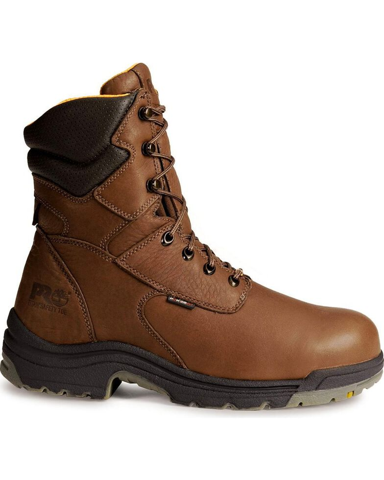 "Timberland Pro Men's Titan 8"" Work Boots, Coffee, hi-res"