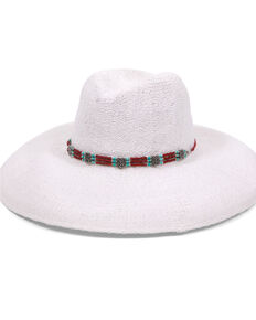 'ale by Alessandra Women's Larimar White Wide Brim Fedora, White, hi-res