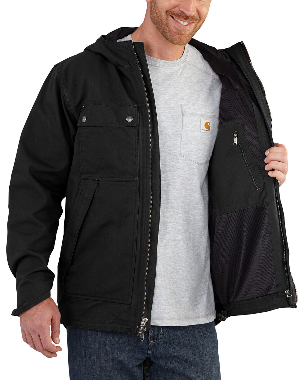 Carhartt Men's Quick Duck 3-in-1 Rockwall Jacket - Tall , Black, hi-res