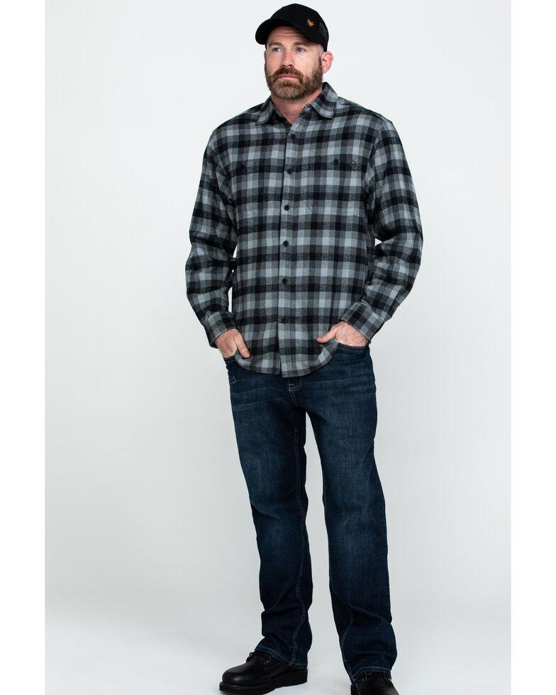 Wolverine Men's Legend Long Sleeve Flannel Long Sleeve Work Shirt , Grey, hi-res